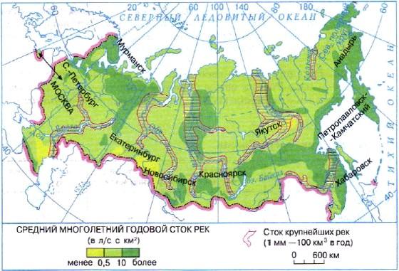 Фазы водного режима рек